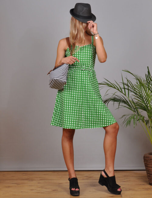 motel-vintage-store-green-plaid-mini-dress