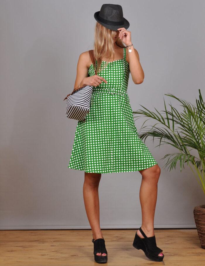 motel-vintage-store-green-plaid-mini-dress