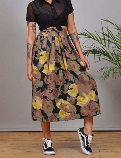 motel-vintage-shorts-Pleated-Midi-Skirt