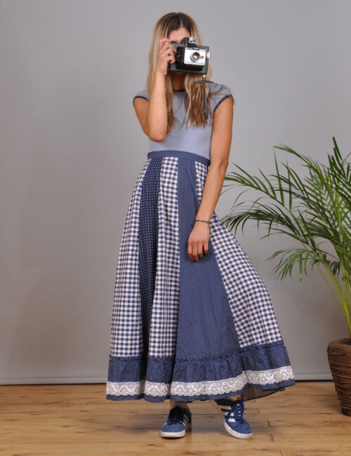 motel-vintage-store-Maxi-Pleated-Skirt