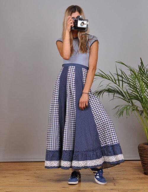 motel-vintage-store-Maxi-Pleated-Skirt